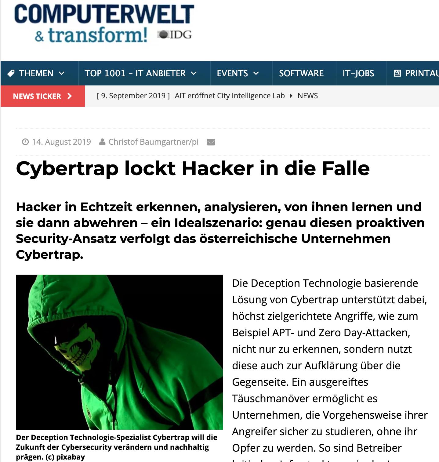 2019.8.14 Computerwelt.at